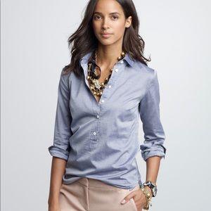 J.Crew chambray long sleeve popover shirt Med